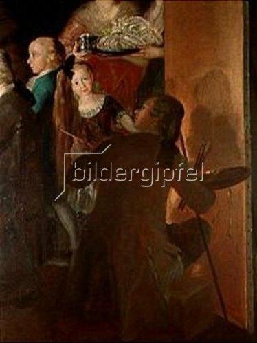 Francisco José de Goya: Der Künstler an der Staffelei. Detail aus Die Familie des Infanten Don Luis