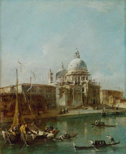 Francesco Guardi: Venedig, Santa Maria della Salute.