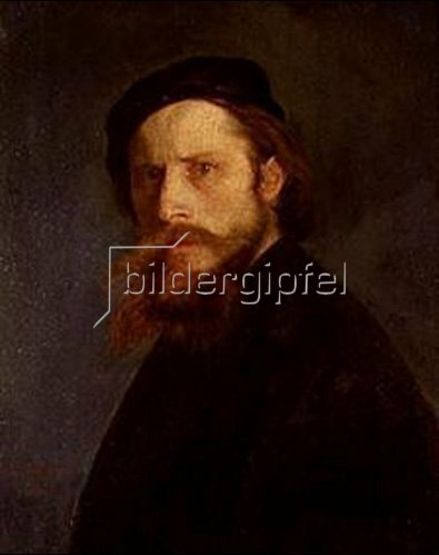 Karl Haider: Selbstbildnis. 1875.