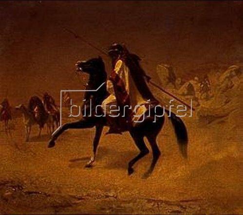 Theodor Horschelt: Ein Araber zu Pferde. 1853.