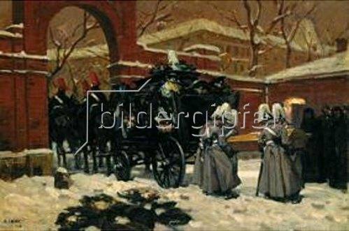 Angelo Jank: Die Überführung der Leiche Fritz von Uhde's. 1911.