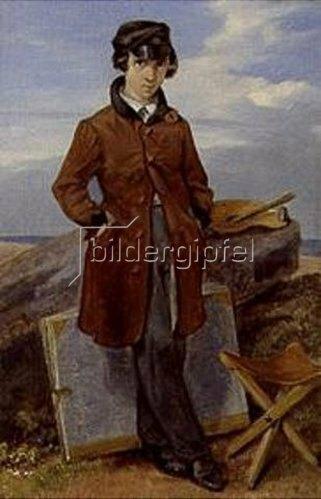 Georg Friedrich Kersting: Hermann Kersting als Landschaftsmaler. 1843.