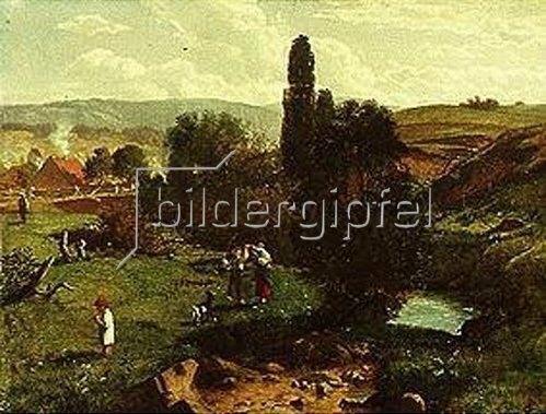 Hans Thoma: Frühlingsweide. 1867