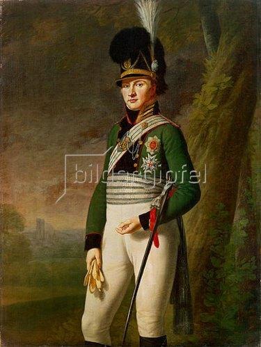 Wilhelm von Kobell: Kronprinz Ludwig von Bayern als Oberst des 3.Chevauxlegers-Regiments. Um 1808.