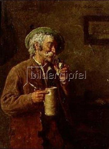Hugo Kotschenreiter: Der Genießer (Alter Bauer mit Bierkrug). 1904.