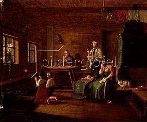 Lorenzo Quaglio d.J.: Fürbitte gegen Blitzschlag. Vor 1834.