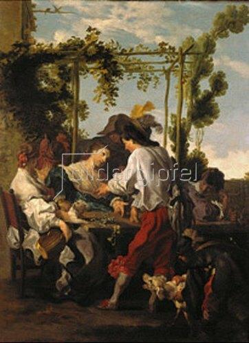 Johann Liss (Lys): Das Morraspiel.