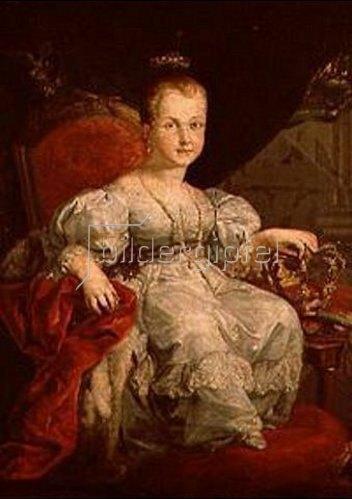 Vicente López: Bildnis der Isabella II. von Spanien als Mädchen.