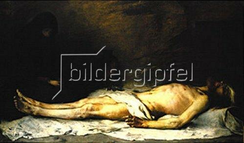 Ludwig von Löfftz: Die Beweinung Christi durch Maria Magdalena. 1883.