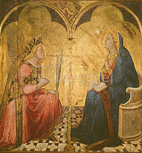 Ambrogio Lorenzetti: Verkündigung Mariae.