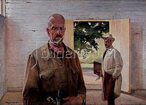 Jacek Malczewski: Übergabe der Palette. 1922.