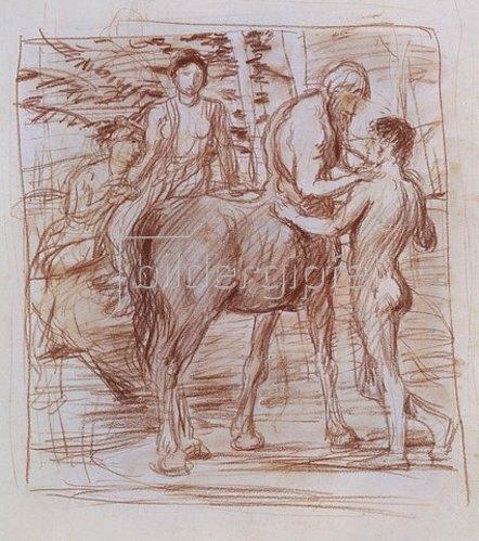 Hans von Marées: Cheiron und Achilles.