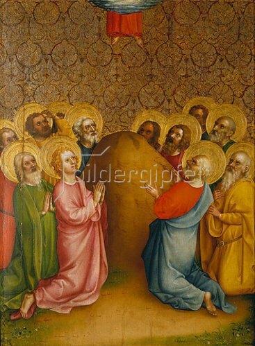 Meister des Heisterbacher Altars: Die Himmelfahrt Christi.