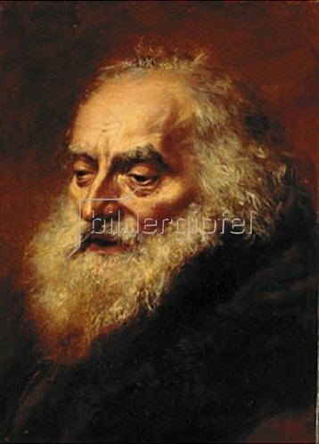 Adolph von Menzel: Kopf eines alten Juden. 1856.