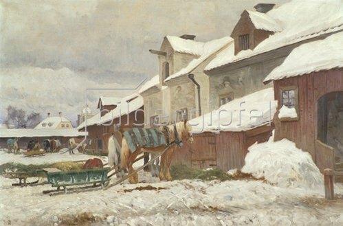 Olof Arborelius: Schwedischer Hof im Winter.