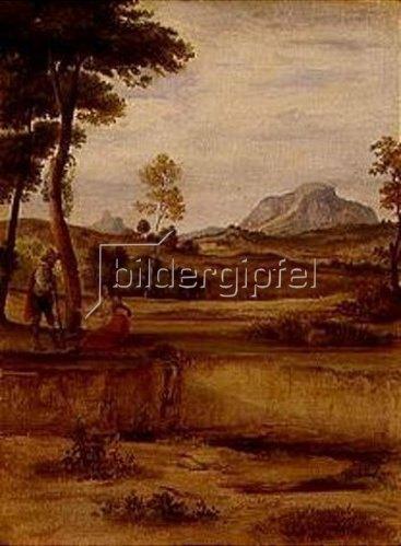 Ferdinand Olivier: Campagnalandschaft mit dem Soracte. Gegen 1830.