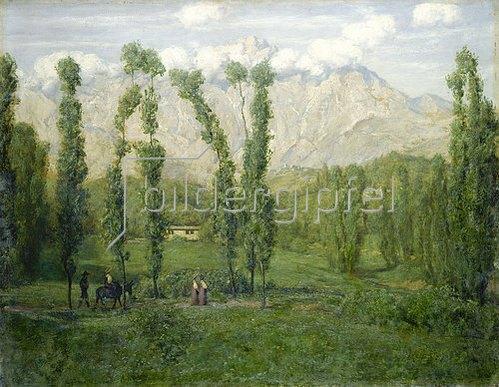 Hans Thoma: Berge bei Carrara. 1886.