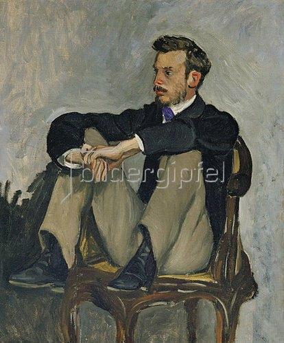 Frédéric Bazille: Bildnis des Malers Pierre Auguste Renoir (1841-1919). Um 1867