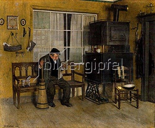Peter Philippi: Landwirt am Butterfaß. 1912.