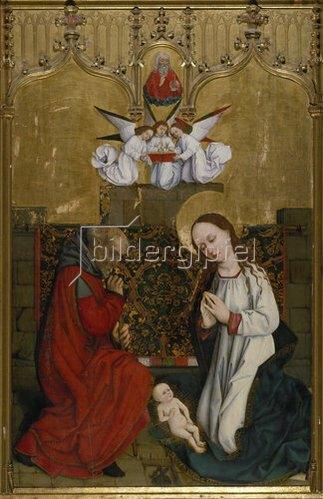 Hans Pleydenwurff: Hofer Altar. Innenseite. Geburt Christi.