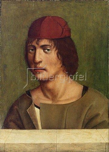 Jan Polack: Bildnis eines jungen Mannes (Selbstbildnis?).