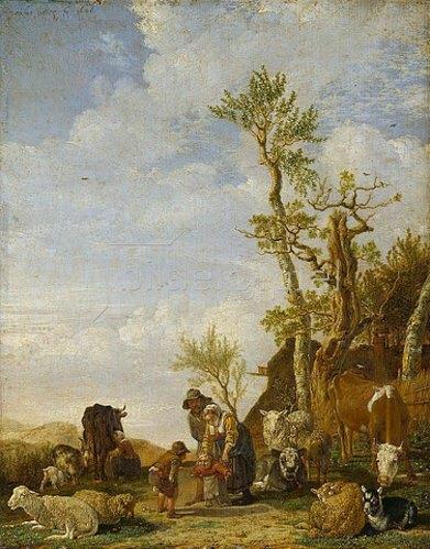 Paulus Potter: Bauernfamilie mit Vieh. 1646.