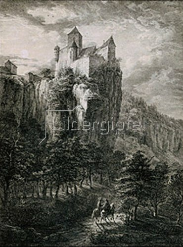 Domenico Quaglio: Schloß Prunn im Altmühltal.
