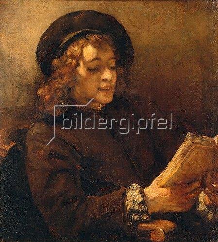 Rembrandt van Rijn: Titus van Rijn, der Sohn des Künstlers, lesend. Um 1656/57