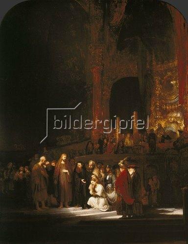 Rembrandt van Rijn: Christus und die Ehebrecherin. 1644