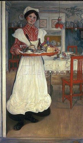 Carl Larsson: Martina bringt das Frühstück.
