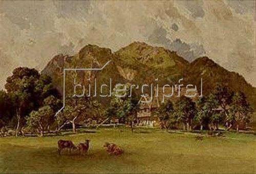 Leopold Rottmann: Die Urtelmühle bei Lengries. 1877.
