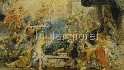 Peter Paul Rubens: Medici-Zyklus: Apotheose Heinrichs IV. und Proklamation der Regentschaft 1610.