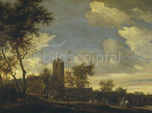 Salomon van Ruysdael: Das Fest unter dem Maibaum. 1655