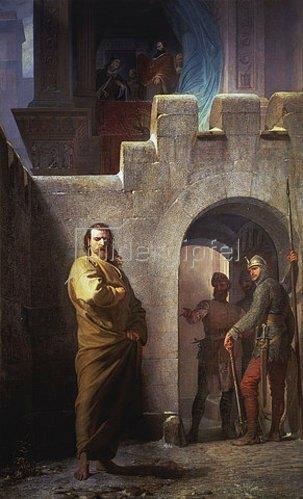 Eduard Schwoiser: Kaiser Heinrich IV. in Canossa.