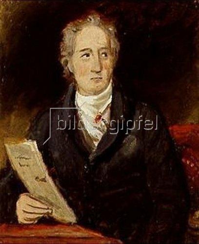 Joseph Karl Stieler: Johann Wolfgang von Goethe. Portrait- Skizze.