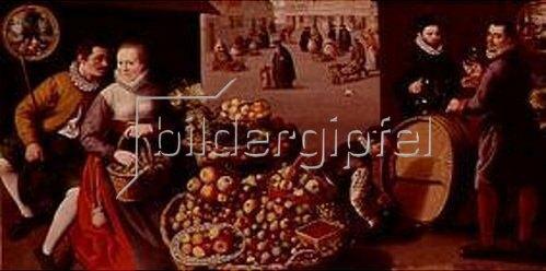 Lucas I. van Valckenborch: Obstmarkt (September/Oktober). 1590.