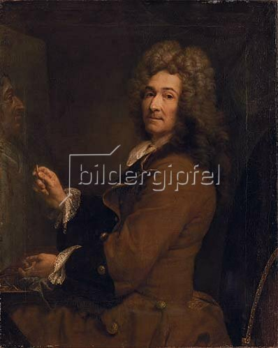 Joseph Vivien: Selbstbildnis vor der Staffelei, um 1720