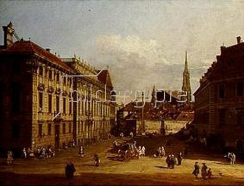 Bernardo (Canaletto) Bellotto: Der Lobkowitz-Platz in Wien