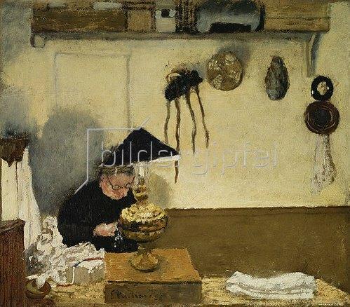 Edouard Vuillard: Madame Vuillard beim Nähen. 1895