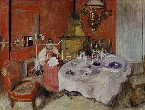 Edouard Vuillard: Das Speisezimmer (Mme.Vuillard dans la salle a manger). 1902.