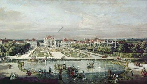 Bernardo (Canaletto) Bellotto: Schloß Nymphenburg, München. Um 1761