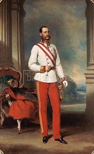 Franz Xaver Winterhalter: Kaiser Franz Joseph von Österreich. 1865