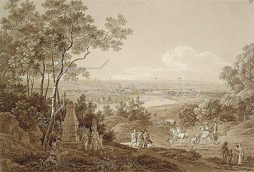 Adrian Zingg: Dresden, vom Waldschlößchen gesehen.