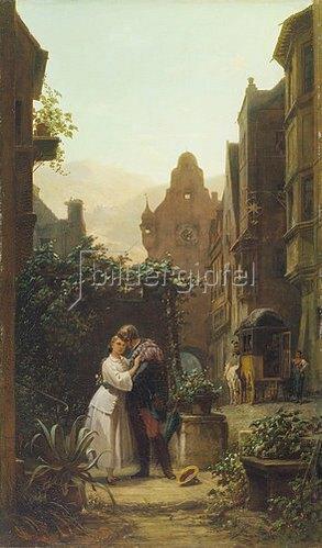 Carl Spitzweg: Der Abschied. Um 1855.