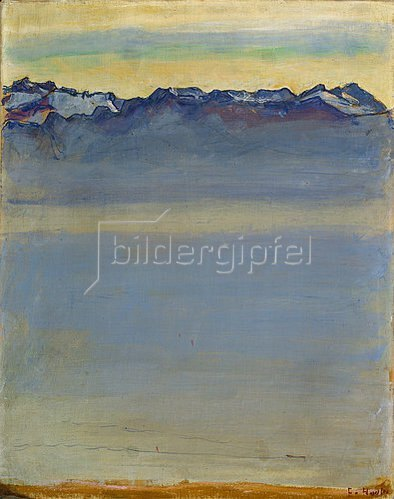 Ferdinand Hodler: Genfer See mit Savoyer Alpen. 1907