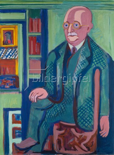 Ernst Ludwig Kirchner: Bildnis Dr. Carl Hagemann. 1928.
