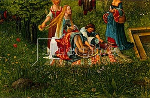 Albrecht Altdorfer: Susanna im Bade. Detail: Das Fussbad.
