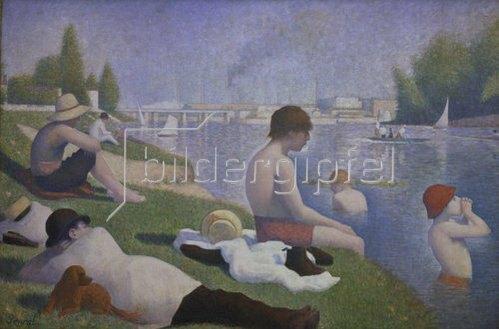 Georges Seurat: Eine Badestelle bei Asnières. 1884