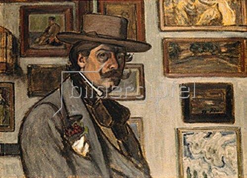 József Rippl-Rónai: Selbstbildnis mit braunem Hut, 1897.