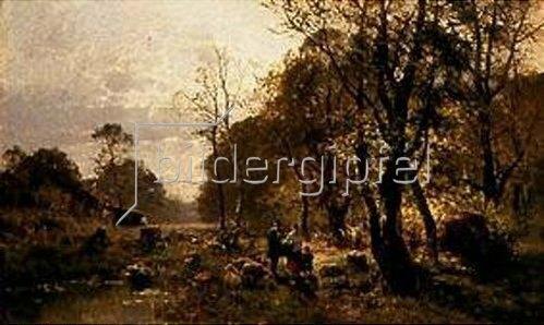 Carl Adam Heinisch: Waldidylle. 1888.